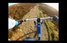 mountain bike descent off black combe lake district uk