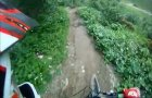 Chatel Bike Park 2013 : road gap, step up, river gap.