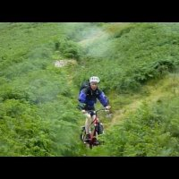 Martin Mountain Biking in Bannerdale, July 2010
