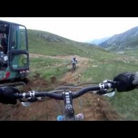 Les Arcs Red 10 MTB Downhill run from GoPro HD chest cam