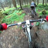 Mr Kenneth Jackson known as bike destroyer hammering downhill trail in Dunkeld part I