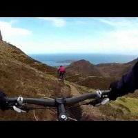 Mountain biking Scotland. Quiraing, Skye. One of the best.